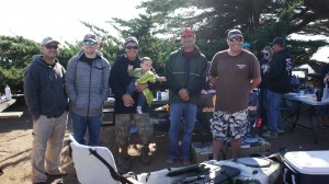 Top Anglers for Cambria Slam Down III